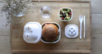 EKO BURGER SET, 100% biodegradable y compostable para delivery