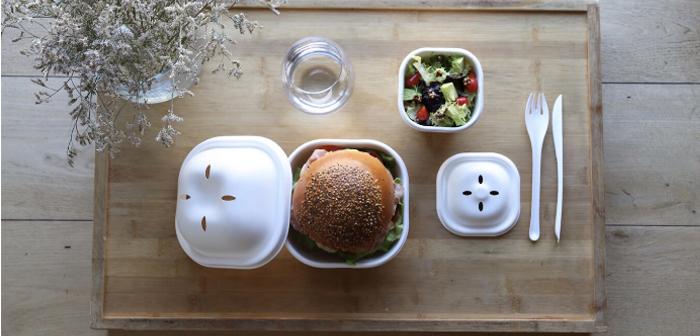 EKO BURGER SET, 100% biodegradable y compostable para delivery