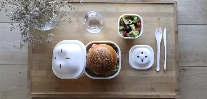 ECO BURGER SET, 100% biodegradable y compostable para delivery