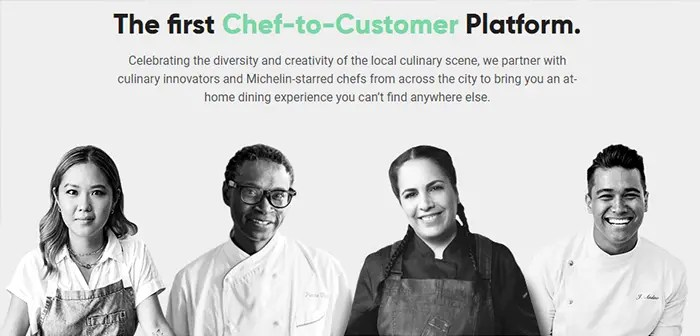 CookUnity es un colectivo formado por chefs que aspira a llevar las mejores creaciones de los expertos cocineros directamente de los fogones a las casas de los comensales.