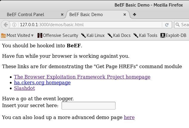 BeEF - Demo