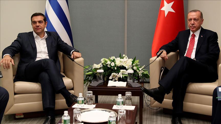 Cumhurbaşkanı Erdoğan Yunanistan Başbakanı Çipras ile görüştü