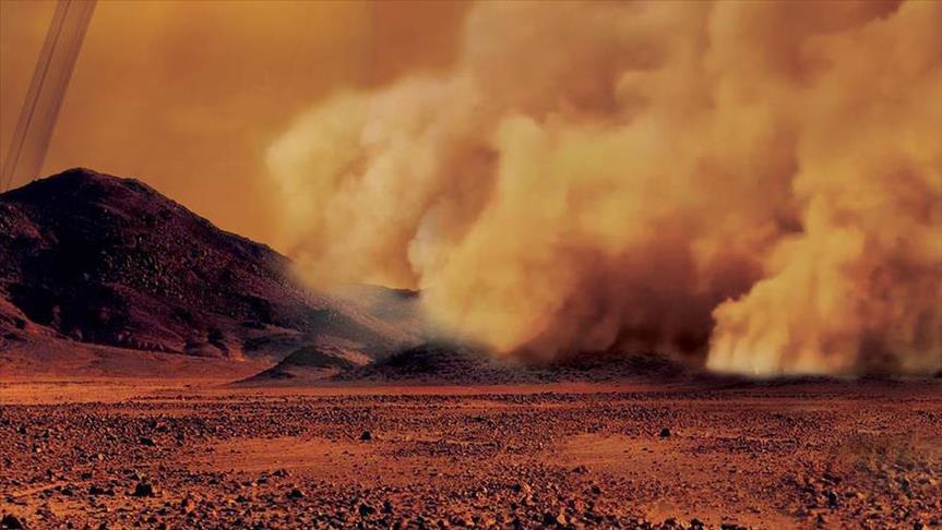Titan'da kum fırtınaları görüntülendi