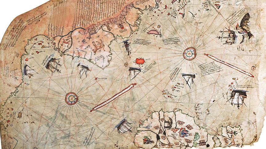 1818'DE KEŞFEDİLDİ DENİLİYORAMA PİRİ REİS 1513'TE ÇİZMİŞ
