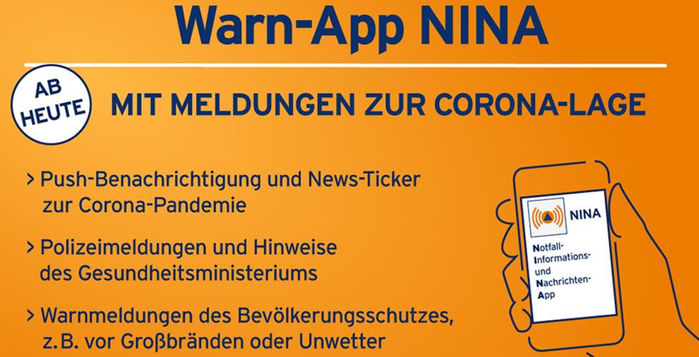 Korona haberleri Warn-App Nina'da