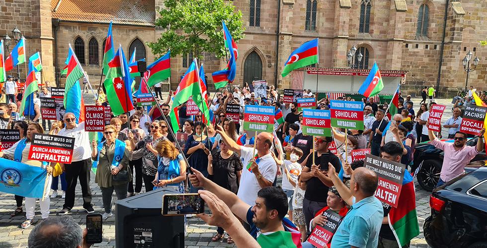 Ermenistan, Nürnberg'de protesto edildi
