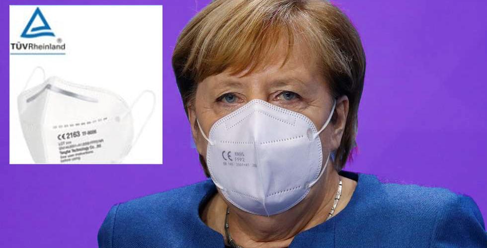 Merkel'in taktığı maske çakma çıktı