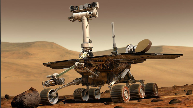"Süper Rover ""Kızıl Gezegen""e indi"