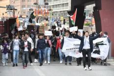 Avrupa'da İsrail'in Mescid-i Aksa'ya ve Filistinlilere yönelik saldırıları protesto edildi