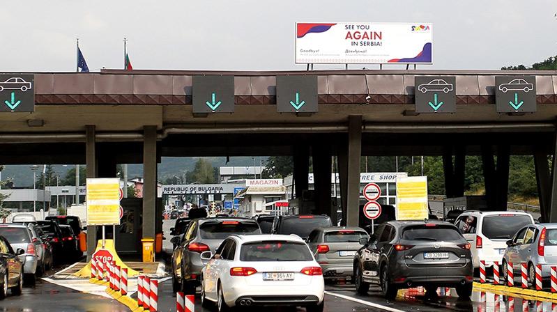 Gurbetçiler sıla yolunda Sırbistan'dan sorunsuz geçiyor