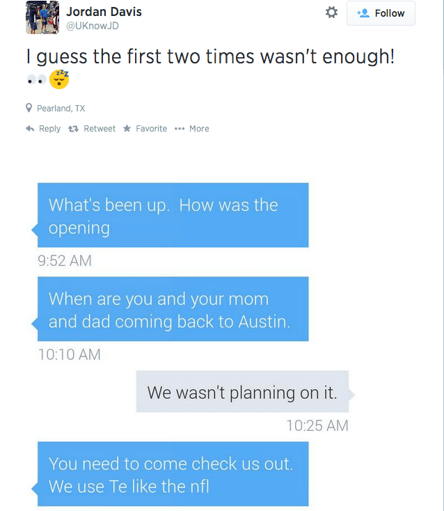 Texas AM Commit Posts Text Messages He Apparently Got