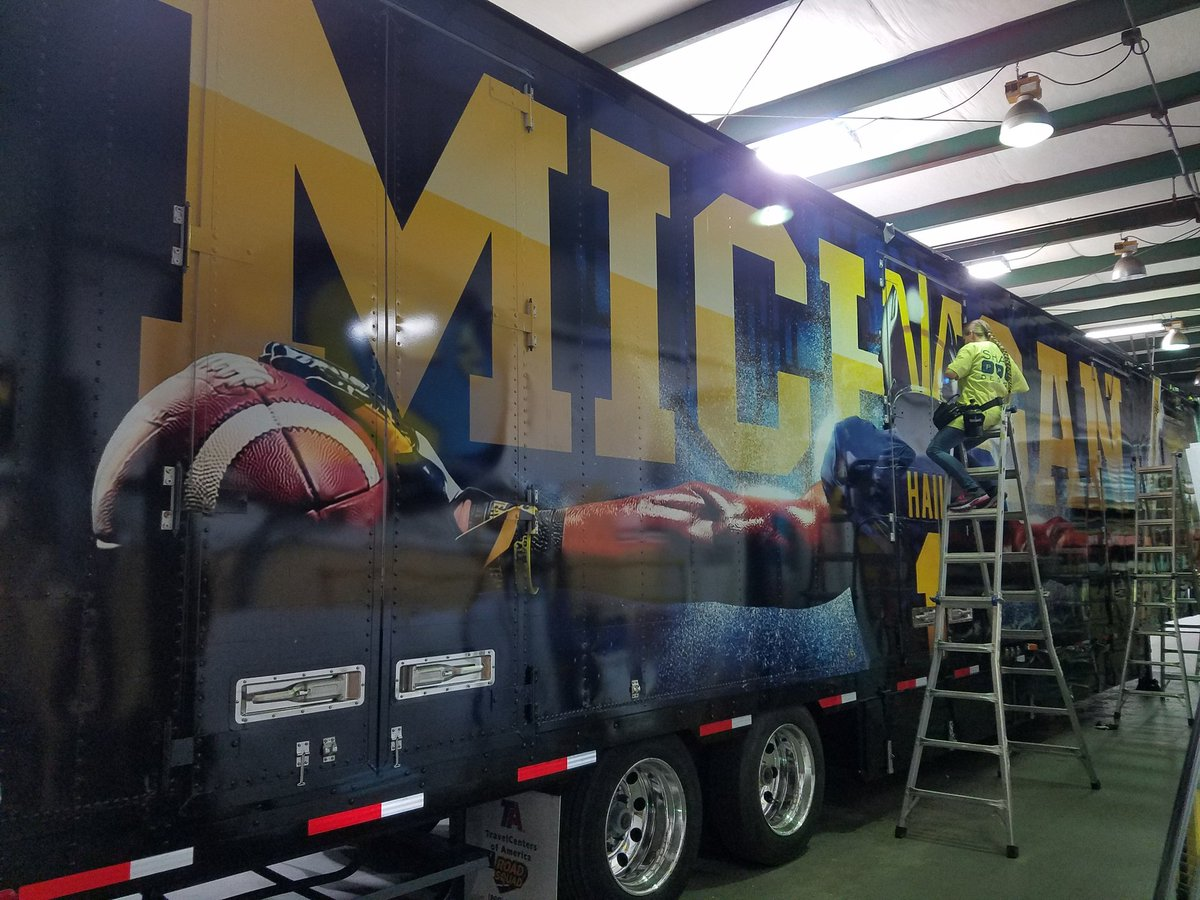 Photos Michigan FB Equipment Truck Is Getting Ready For