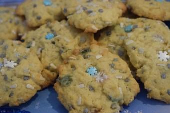 Cookies mit Schneeflocken