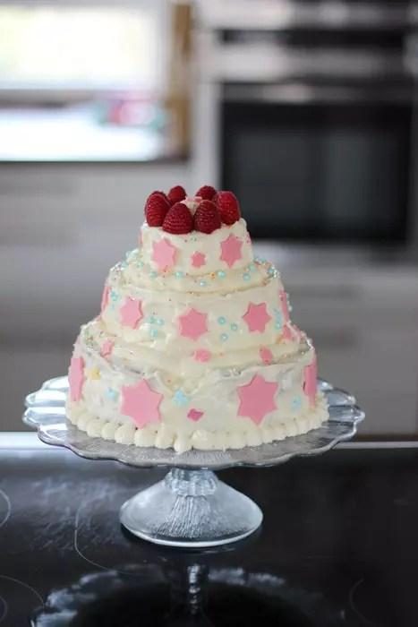 3 stckige Torte mit Buttercreme selber machen fr Anfnger