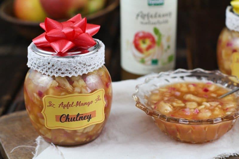 Apfel-Mango-Chutney Mit Byodo Apfelessig - Diy Geschenk Aus Der