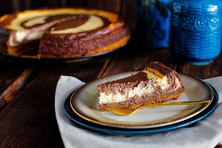 Schokoladen Kasekuchen Rezept Als Zebrakuchen Die Kuche Brennt
