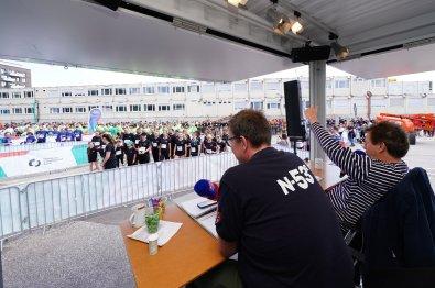 Moderator Lou Richter Hamburg, 22.06.2019, HafenCity Run 2019 in der HafenCity