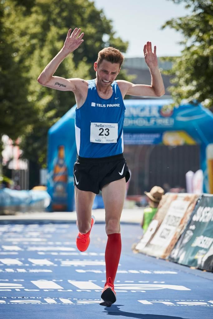 Bester Deutscher: Erik Hille, 25. Hella Halbmarathon in Hamburg am 30.06.2019