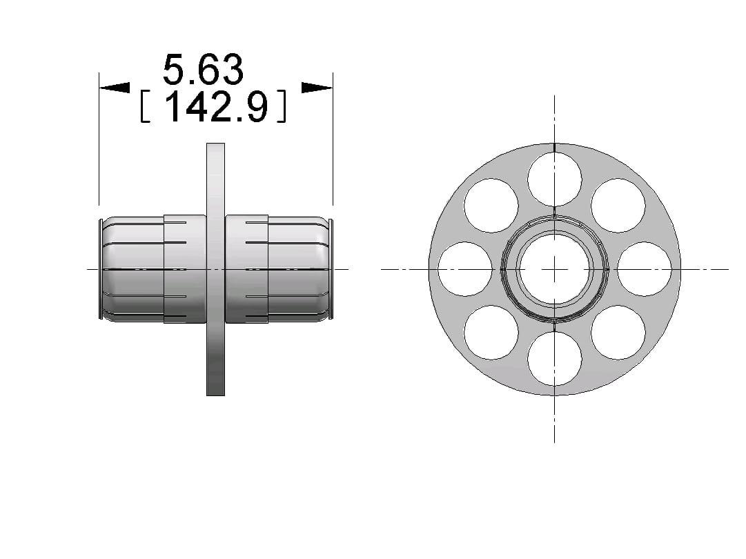 6 1 8 75 Ohms Connector Anchor Insulator