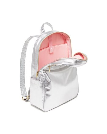 Rucksack metallic silber rosa. Die Macherei