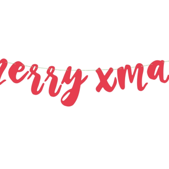 Merry Christmas Girlande Rot