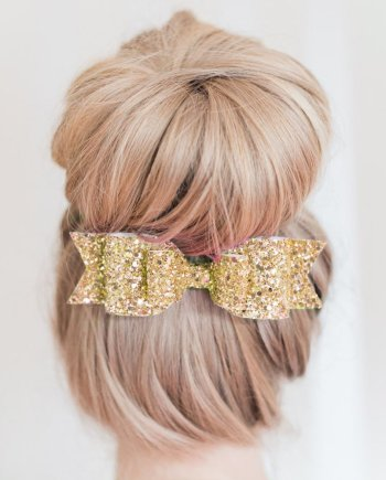 Haarspange Glitzer Schleife. Die Macherei
