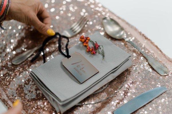 Acryl Placecards Kofferanhänger Die Macherei