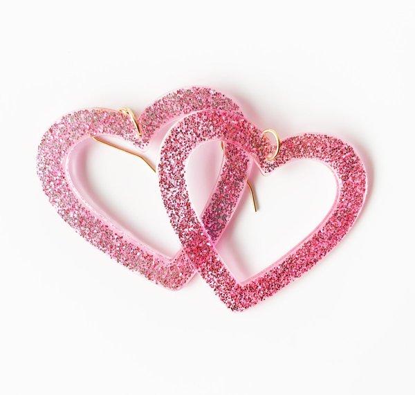 Ohrringe Candy Crush Rosa Glitzer die Macherei