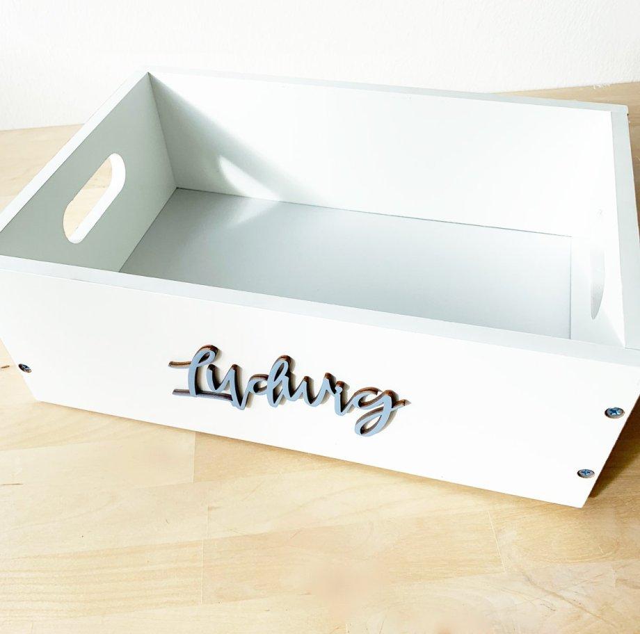 Windelbox mit Geburtsdaten . Die Macherei