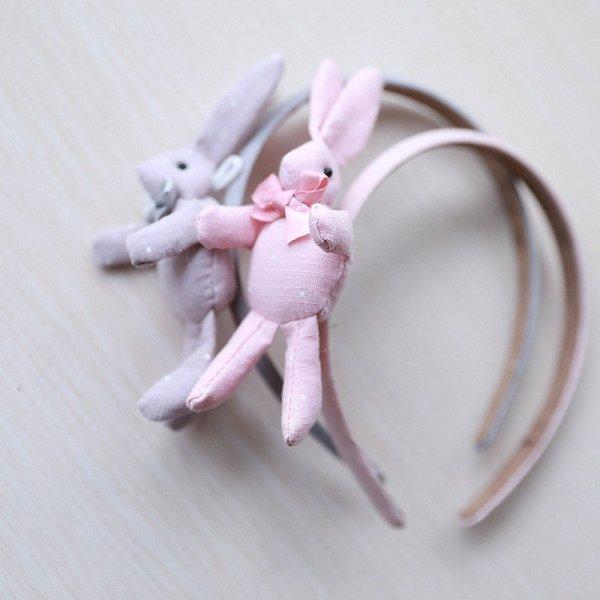 Hasenhaarreifen rosa mix