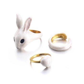 RIng Set Bunny 3 teilig. Die Macherei