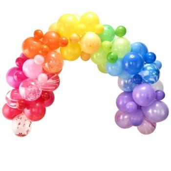 Ballongirlande Regenbogen 85 teilig