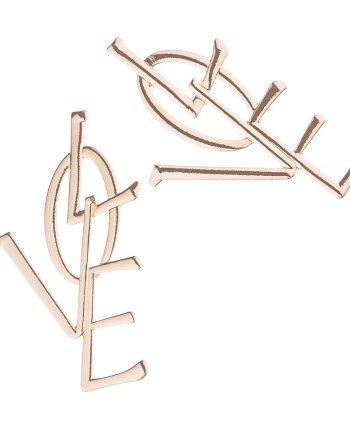 Statement Ohrringe Love Gold. Die Macherei