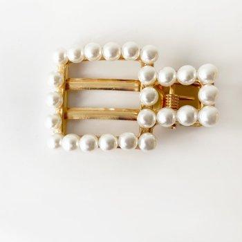 Haarspange perle square. Die Macherei