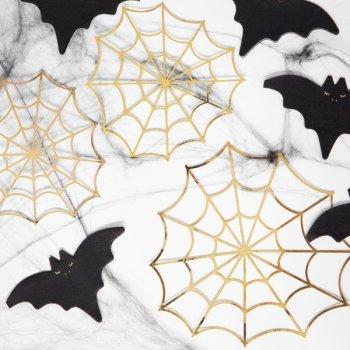 Spinnweben Deko Set Gold