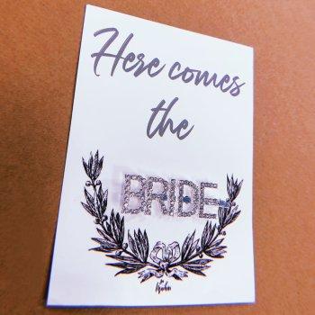 Haarspange Glitzer Bride