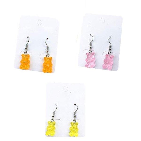 Ohrringe Gummibären klein in 3 Farben