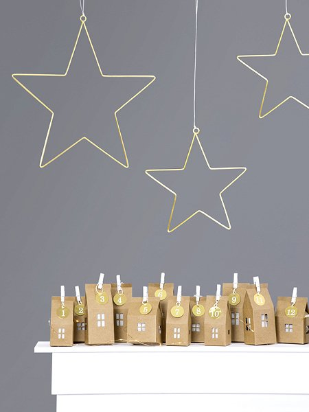 Adventkalender Set DIY Kartonhaus Die Macherei