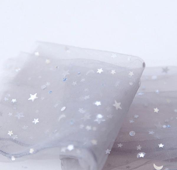 Tüllsocken Sterne Silber DIe Macherei