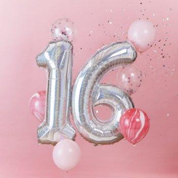 Luftballon Set 16 Geburtstag 8tlg