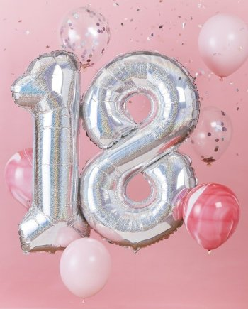 Luftballon Set 18 Geburtstag 8tlg