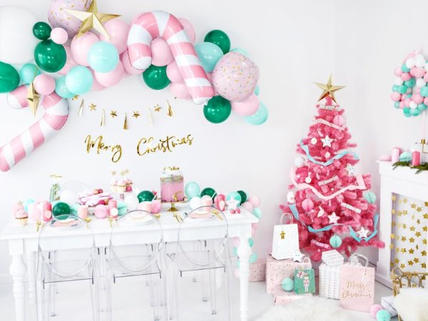 Riesen Folienballon Zuckerstange Rosa3