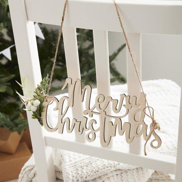 Sessel Schilder Merry Christmas Holz 4er Set
