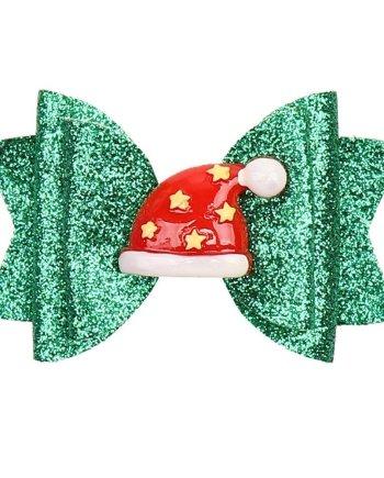 Haarspange Weihnachtsmütze
