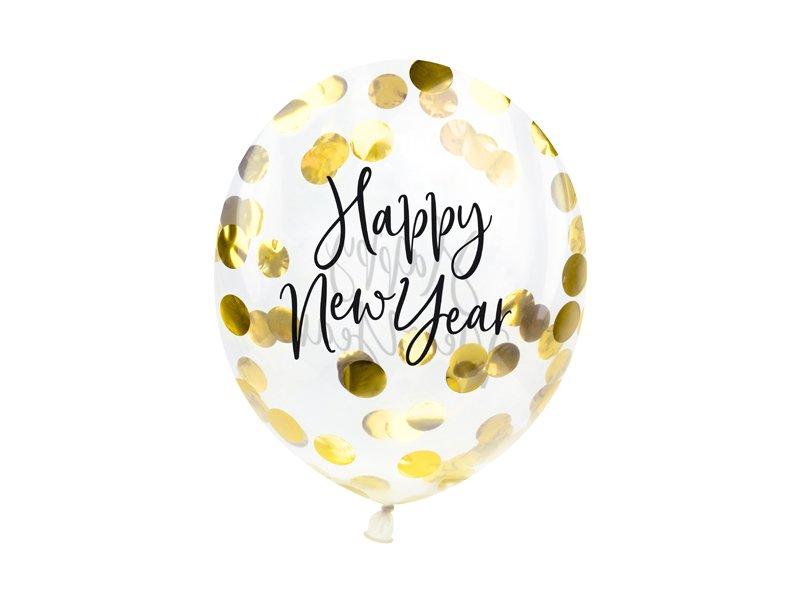 Konfettiballon Happy New Year