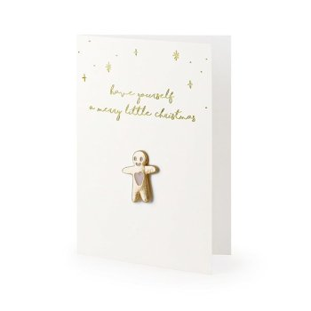 Karte mit Pin a merry little Christmas