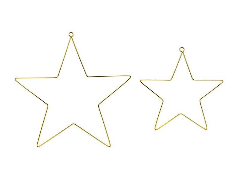 Gold Metallring Sterne