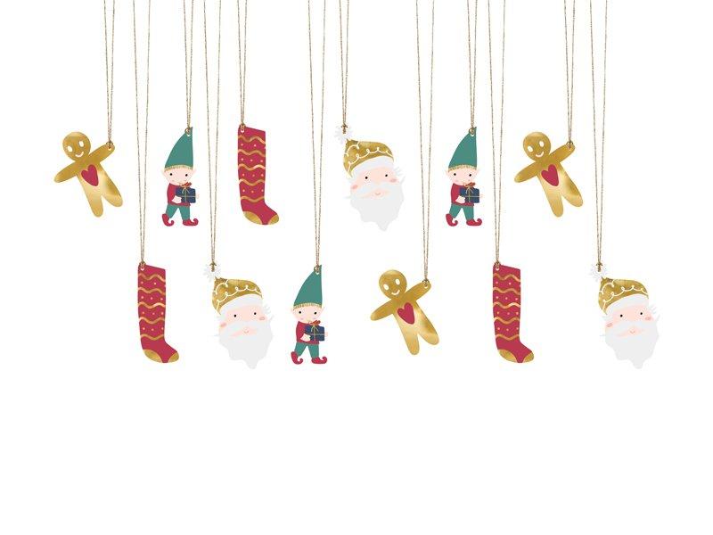 Geschenkanhängerset Santa
