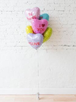 Folienballon Set Candy Hearts