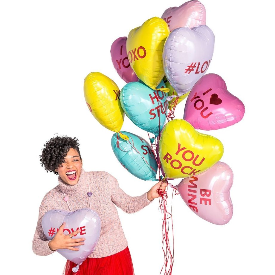 Folienballon Set Candy Hearts